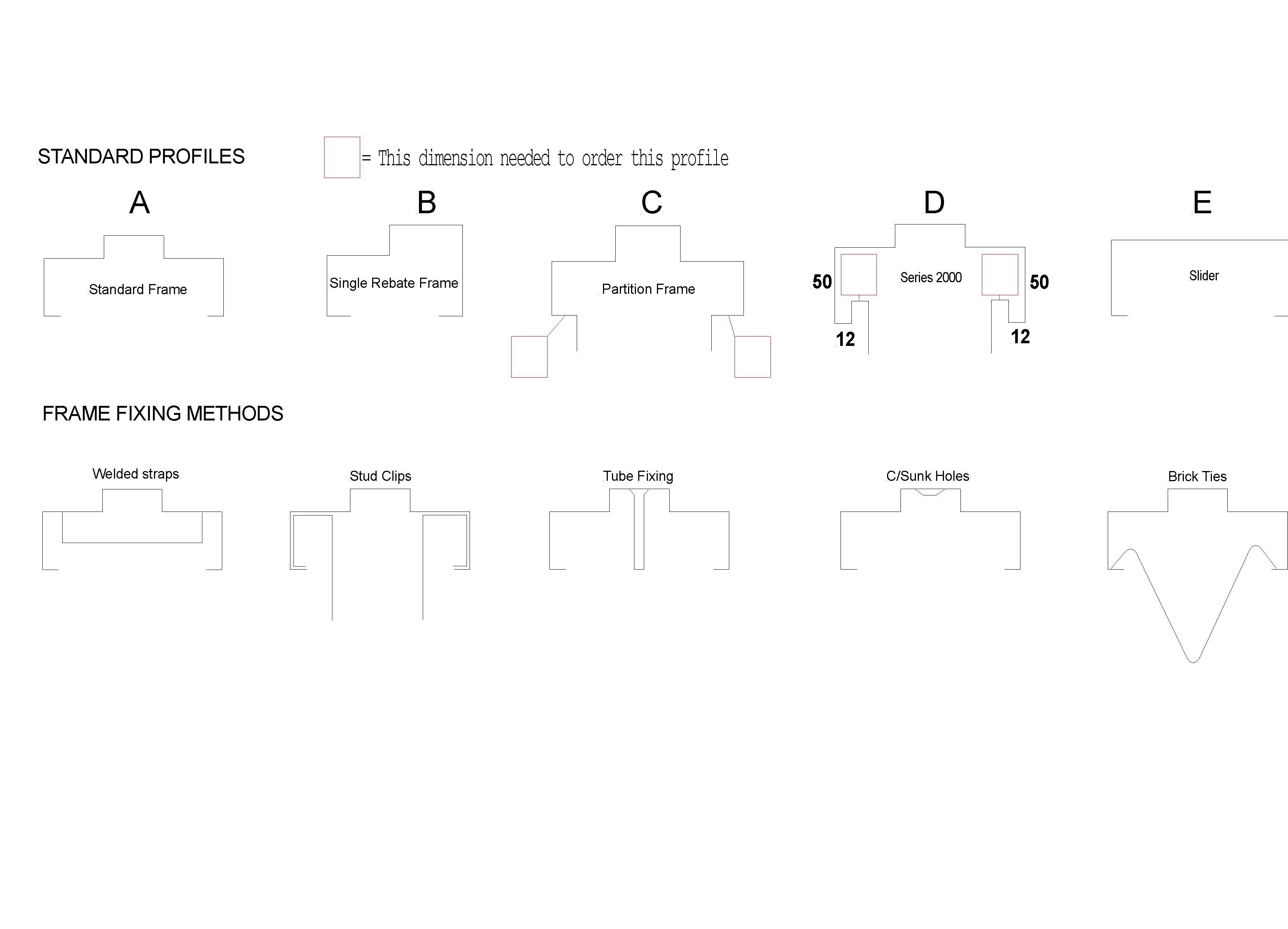 Frame Profiles and Fixing Methods - Surefab Doors & Frames